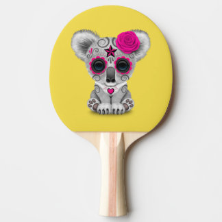 Pink Day of the Dead Baby Koala Ping Pong Paddle