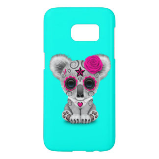 Pink Day of the Dead Baby Koala Samsung Galaxy S7 Case