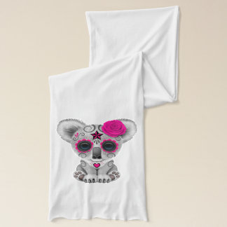 Pink Day of the Dead Baby Koala Scarf