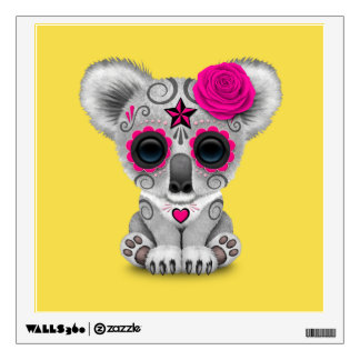 Pink Day of the Dead Baby Koala Wall Decal