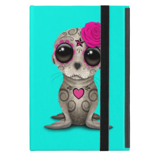 Pink Day of the Dead Baby Sea Lion iPad Mini Case