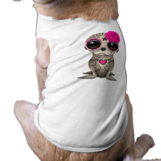 Pink Day of the Dead Baby Sea Lion Shirt