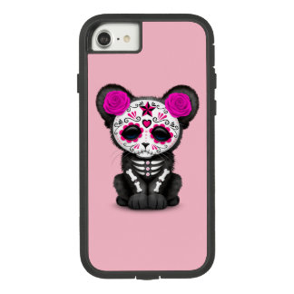 Pink Day of the Dead Black Panther Cub Case-Mate Tough Extreme iPhone 8/7 Case