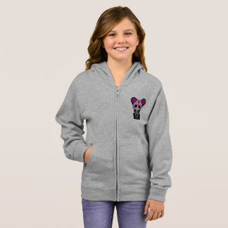 Pink Day of the Dead Black Panther Cub Hoodie