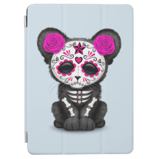 Pink Day of the Dead Black Panther Cub iPad Air Cover