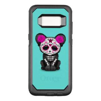 Pink Day of the Dead Black Panther Cub OtterBox Commuter Samsung Galaxy S8 Case