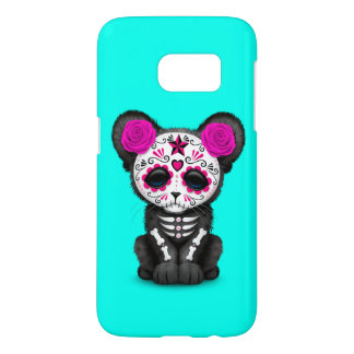 Pink Day of the Dead Black Panther Cub Samsung Galaxy S7 Case