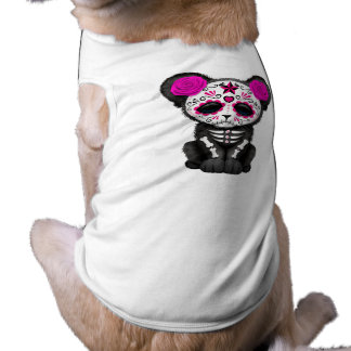 Pink Day of the Dead Black Panther Cub Shirt