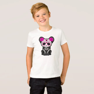 Pink Day of the Dead Black Panther Cub T-Shirt