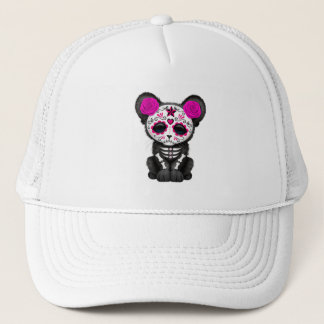 Pink Day of the Dead Black Panther Cub Trucker Hat