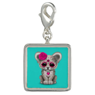 Pink Day of the Dead Lion Cub Charms