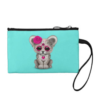 Pink Day of the Dead Lion Cub Coin Purse