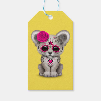 Pink Day of the Dead Lion Cub Gift Tags