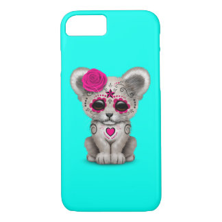 Pink Day of the Dead Lion Cub iPhone 8/7 Case