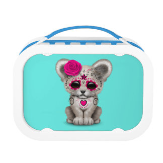 Pink Day of the Dead Lion Cub Lunch Box