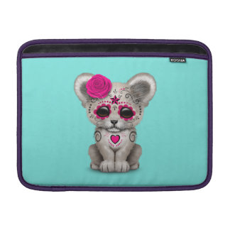 Pink Day of the Dead Lion Cub MacBook Sleeve