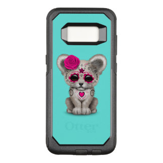 Pink Day of the Dead Lion Cub OtterBox Commuter Samsung Galaxy S8 Case