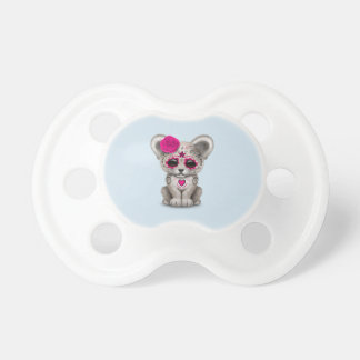 Pink Day of the Dead Lion Cub Pacifier