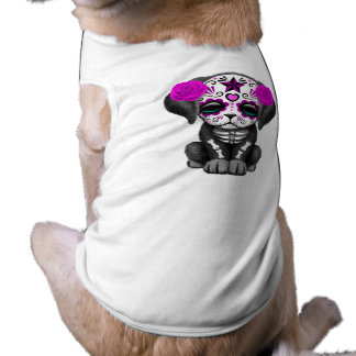 Pink Day of the Dead Puppy Dog Shirt