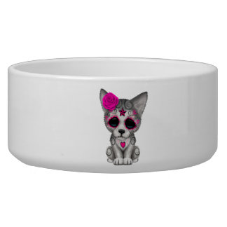 Pink Day of the Dead Wolf Cub