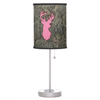 Pink Deer Camo Home Decor Lamp