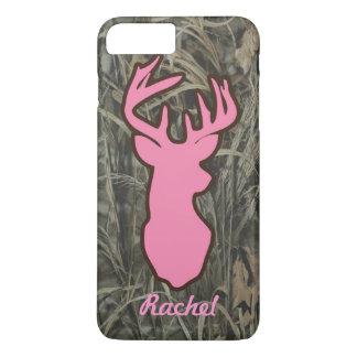 Pink Deer Head Camo iPhone 7 plus case