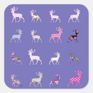 Pink Deer Pattern Stickers