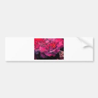 Pink Delight Flower Bumper Sticker
