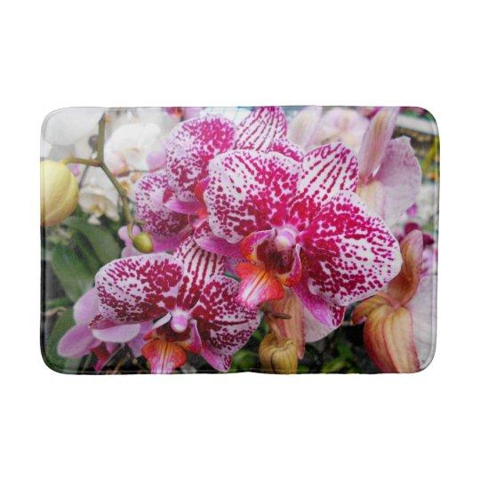 Pink Dendrobium Orchids Bath Mat