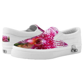 Pink Dendrobium Orchids Slip-On Sneakers