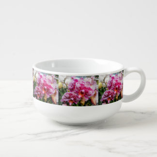 Pink Dendrobium Orchids Soup Mug