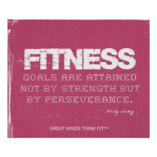 Pink Denim Fitness Quote for Fitness Motivation Poster