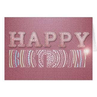 Pink Denim – Happy Birthday Card