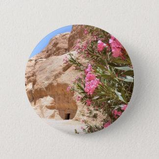 Pink Desert Flowers 2 Inch Round Button