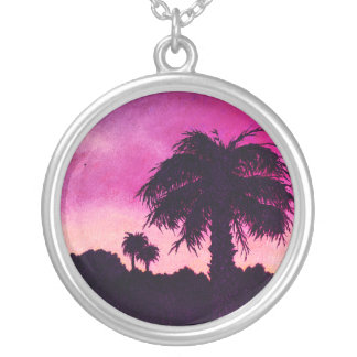 "Pink -""Desert Gold Sunset"" Necklace by All Joy Art"