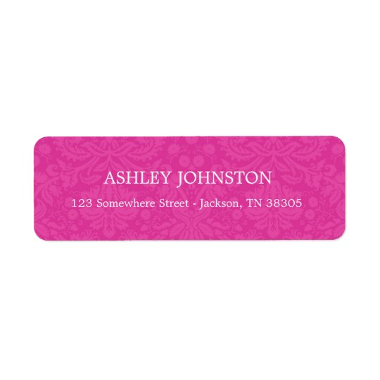 Pink Design Address Labels