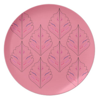 PINK DESIGN ELEMENTS  FOLK PLATE