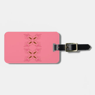Pink design elements luggage tag