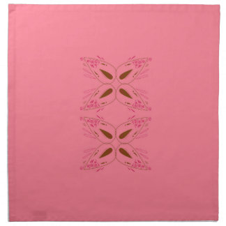 Pink design elements napkin