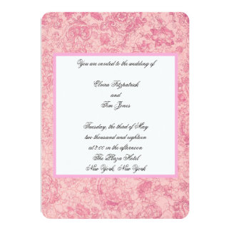 Pink Design Wedding Card