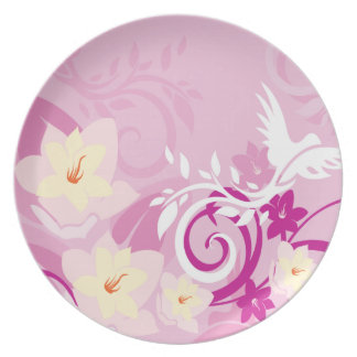 Pink Design Wrapping Paper Plate