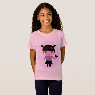 Pink designers t-shirt with Emo girl