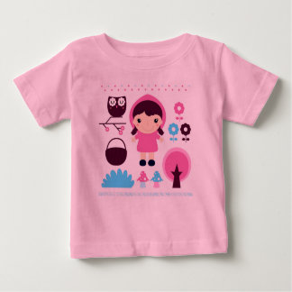 Pink designers t-shirt with Little girl