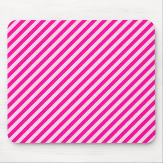 Pink Diagonal Stripes Mouse Pad