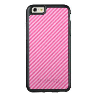 Pink Diagonal Stripes OtterBox iPhone 6/6s Plus Case