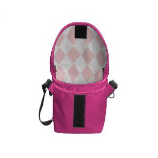 Pink Diamond Argyle Rickshaw Messenger Bag