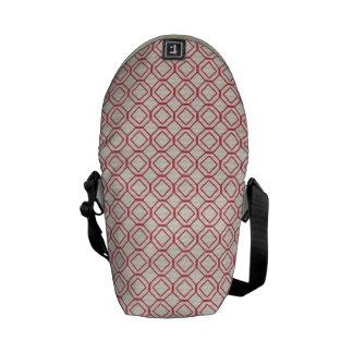 Pink Diamond Circles Pattern Messenger Bags
