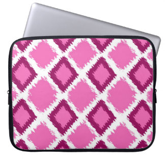 Pink Diamond Ikat Pattern Laptop Sleeve