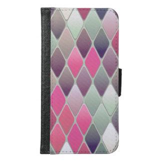 Pink Diamond Mosaic Samsung Galaxy S6 Wallet Case