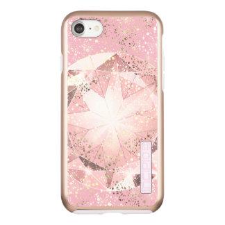 Pink Diamond on Light Pastel with Gold Sparkle Incipio DualPro Shine iPhone 7 Case